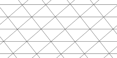 A grid of horizontal and oblique lines forming triangles.